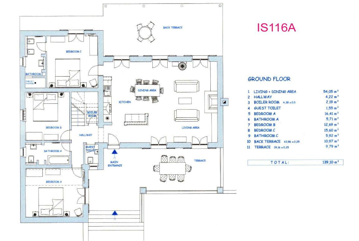 Is116a 4 Bedroom Villa With Pool Sleeps 8 10
