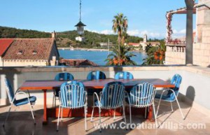 Enjoy the views from this Vis Town villa sleeps 9