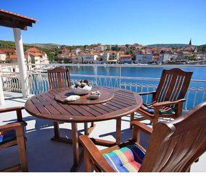 Brac Island Villa with Roof Terrace in Milna
