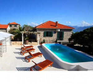 Brac Island Seafront Villa with Pool for 8