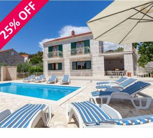 FREE ferry port transfer at this Brac Island villa – selected dates