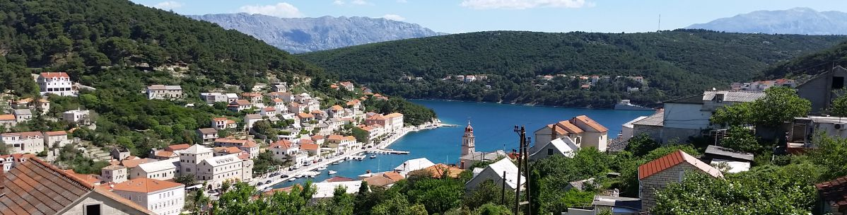 Overview of Brac Island in Croatia