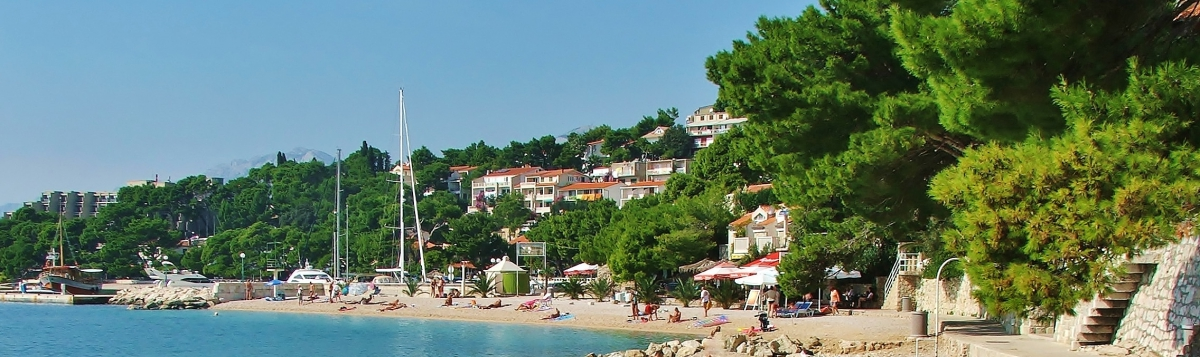Beach view in Brela, Croatia