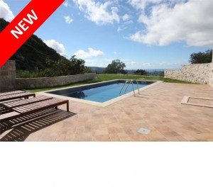 Modern 3 bed villa with pool and distant sea views near Dubrovnik