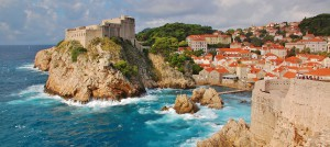 View of Dubrovnik old town where Game of Thrones was filmed