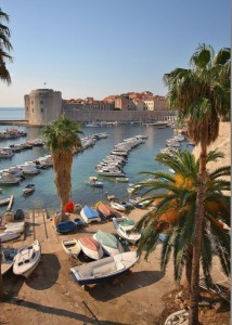 Scenic view of Dubrovnik old City Harbour, Croatia