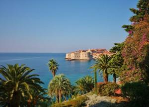 Distant view of Dubrovnik City, Croatia