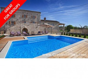 Big Istria holiday house sleeps 14 from £1600 per week