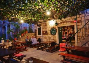 Evening scene at a local konoba (Croatian taverna)