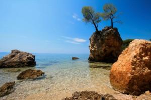 Scenic view of the sea in Croatia