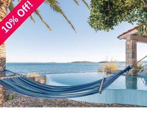 Luxury Peljesac Beachfront Villa for 7-9