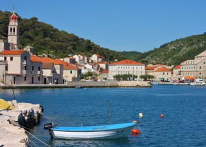 View of Pucisca town on Brac Island, Croatia