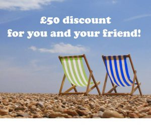 Refer a Friend for £50 off both your holidays!