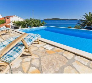 Beachfront Villa with Pool near Sevid, sleeps 8