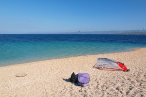 Sandy beach in Croatia