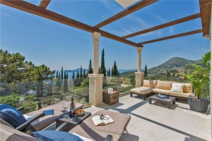 Luxury villa terrace view in Croatia