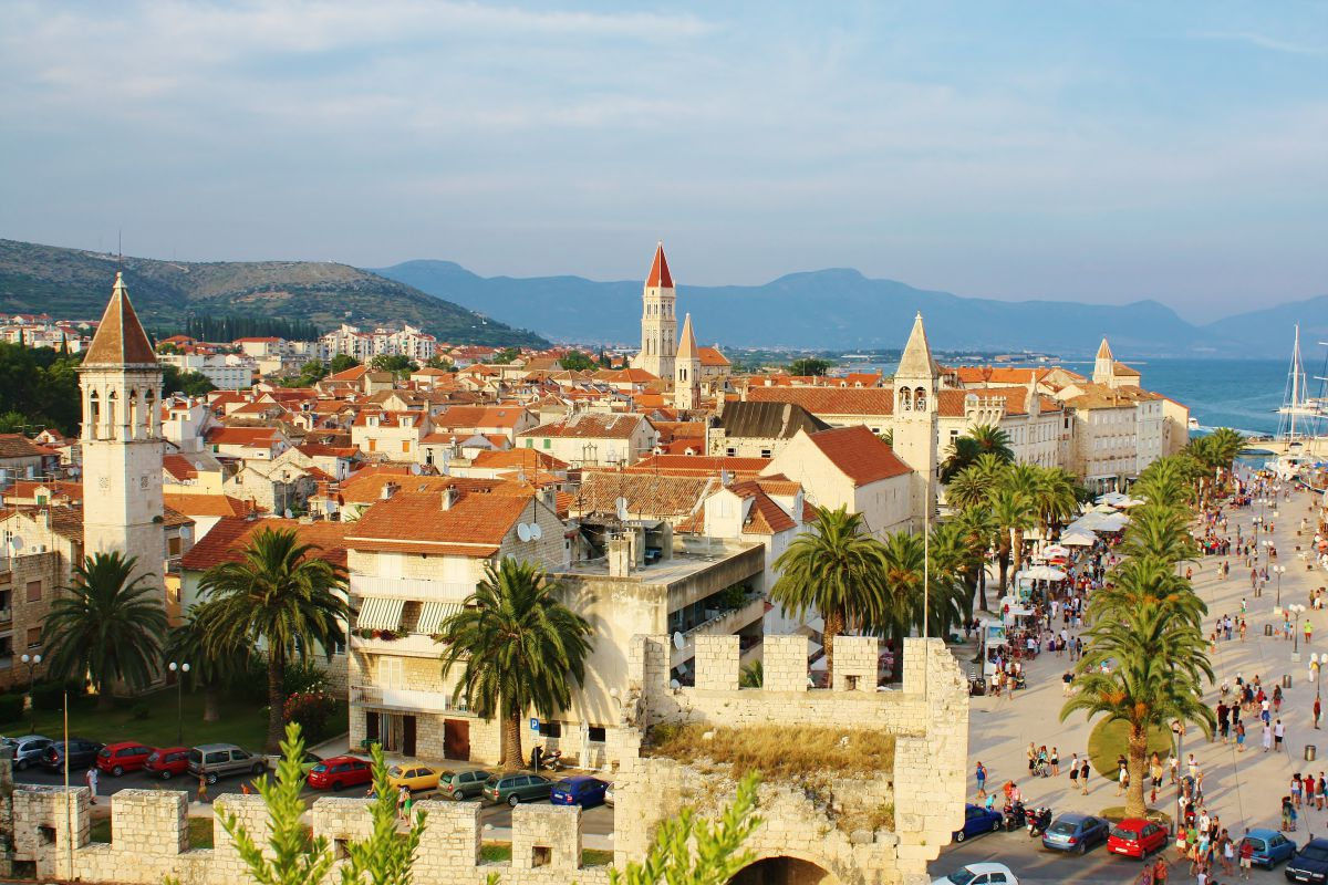 Panormaic view of Trogir town